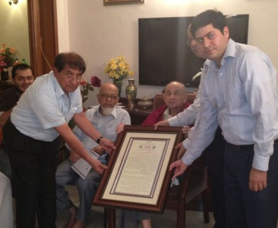Delegation from BMJB presents Citation to  Dr Usman Siddique at Chennai