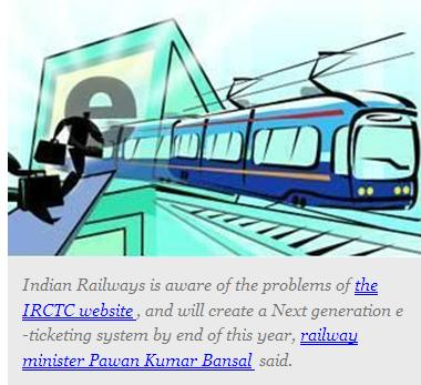 e ticketing system in railway Irctc next-generation e-ticketing website has been revamped and now has one  the system will check to what extent did  according to the railway official.