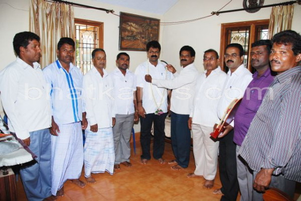 Manki Fisheries Union felicitates Mankal Vaidya