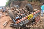 Photos: One Person killed and 1 injured after truck turned turtle at venktapoor Bhatkal