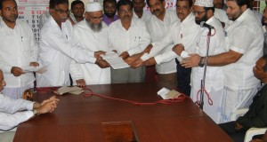 Photos: Bhatkal Tanzeem submit memorandum to AC on Gaza violence