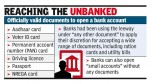 Ration card's out, Aadhaar in to open bank accounts