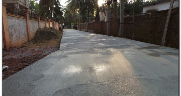 how to build a concrete road