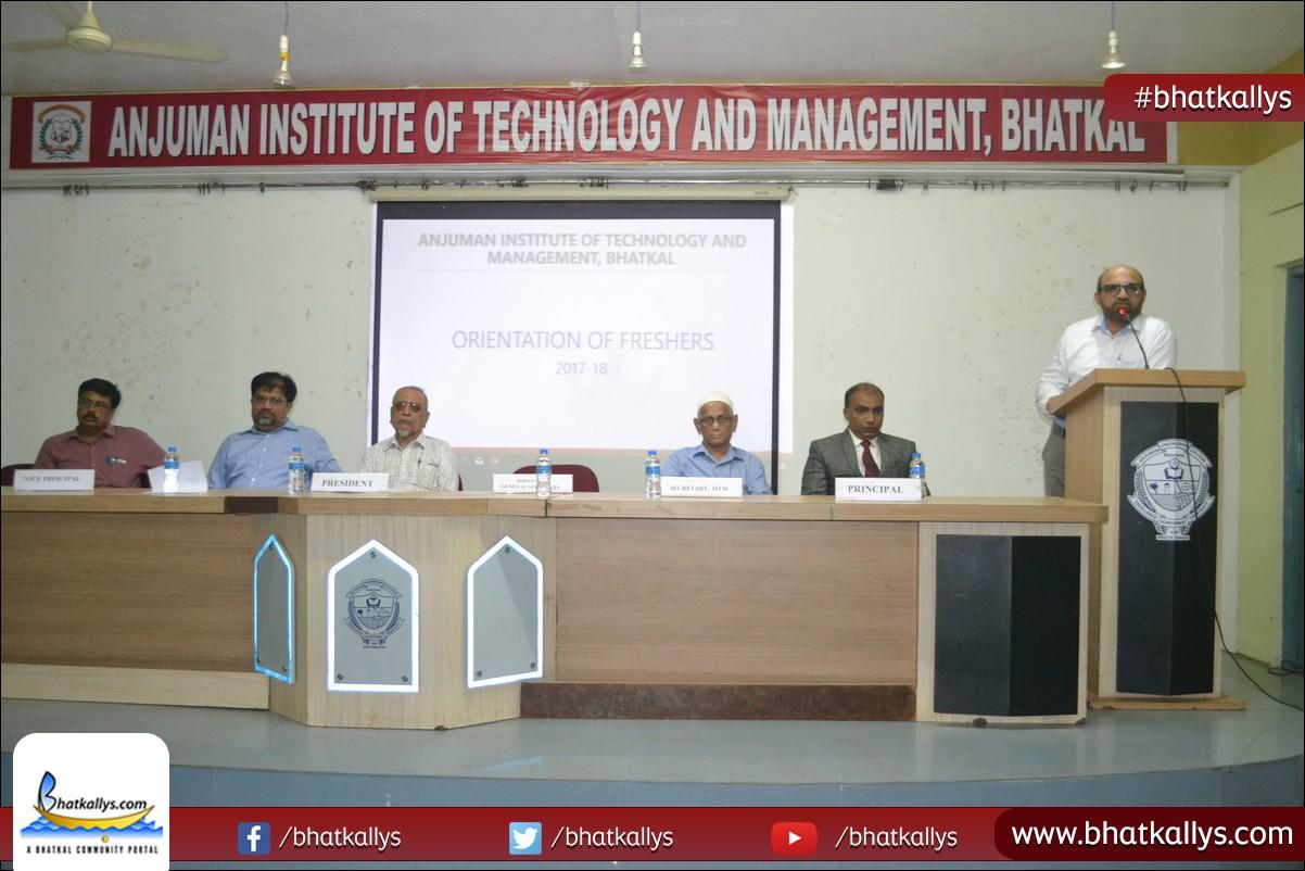 Technology Management Image: Photos: Orientation Of Freshers Program Held At Anjuman